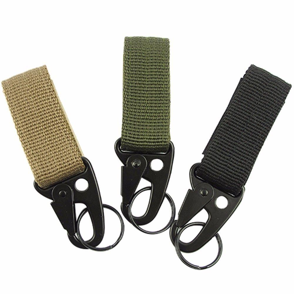 Tactical Backpack Belt Buckle Quick Release Buckle Clip Double Keyring Black