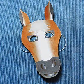 masque de cheval papier carton bastelei pinterest. Black Bedroom Furniture Sets. Home Design Ideas