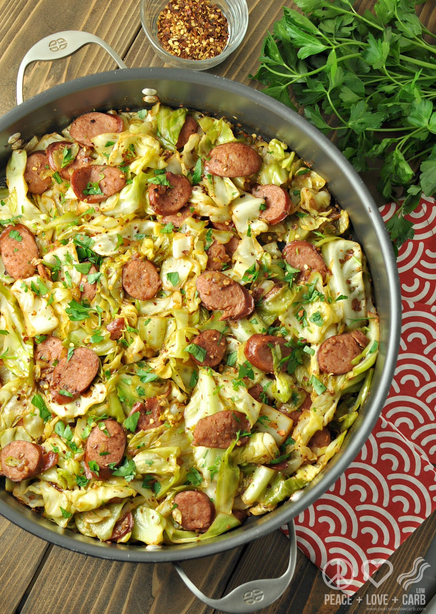 Fried Cabbage with Kielbasa – Low Carb, Gluten Free