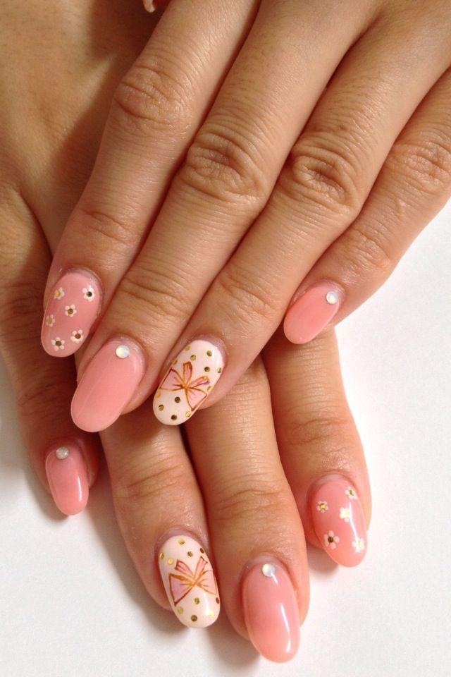 Girly gel nail design nails pinterest makeup crystal nails girly gel nail design prinsesfo Gallery