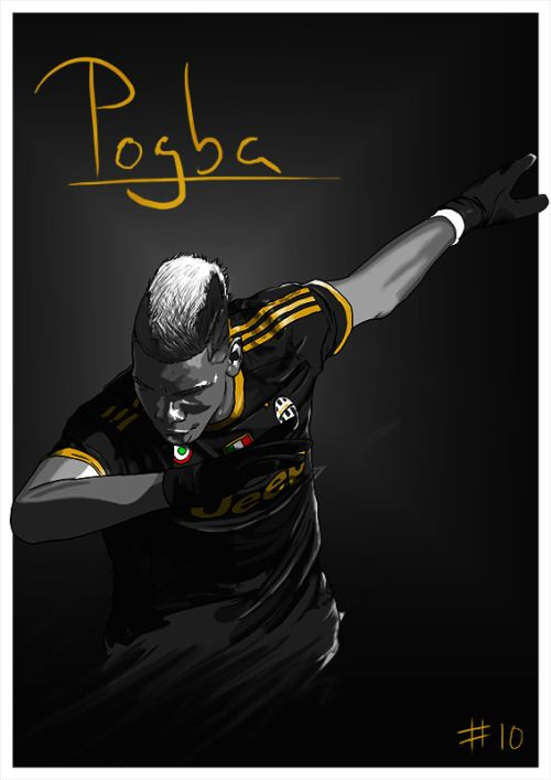 New Paul Pogba illustration!Spent some time trying to slightly tweak my style, I…