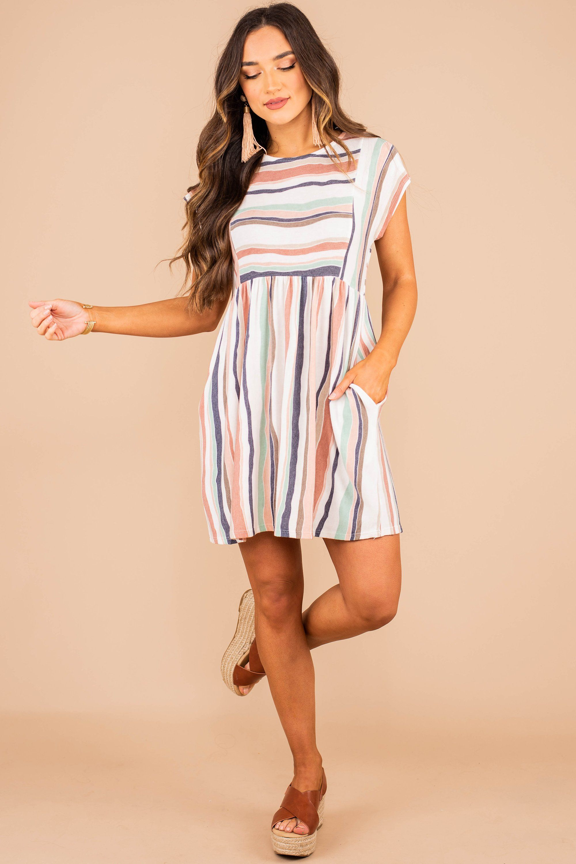 Let S Go Westward Peach Orange Striped Dress In 2021 Striped Dress Dresses Striped Casual Dresses [ 3000 x 2000 Pixel ]
