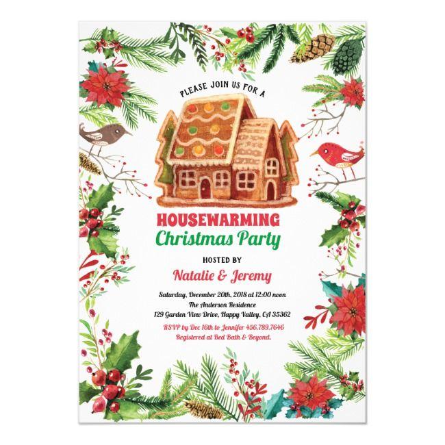 Christmas housewarming party winter theme invitation , #Ad, #winter#theme#invitation#party