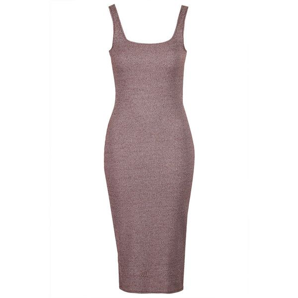 TOPSHOP Ribbed Midi Bodycon Dress (125 BRL) ❤ liked on Polyvore featuring dresses, topshop, berry red, red leather dress, leather bodycon dresses, white midi dress, ribbed bodycon dress and white bodycon dress