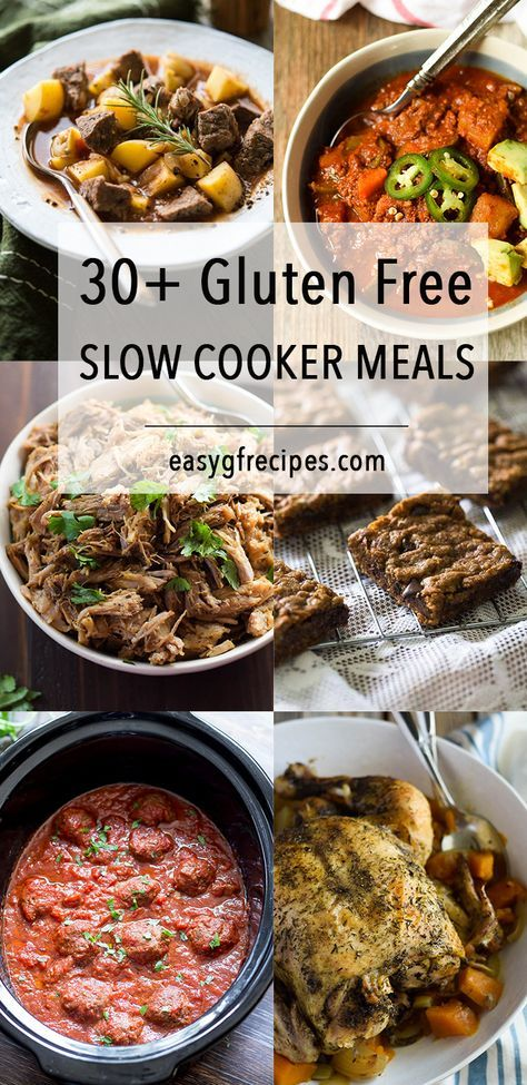 Healthy Easy Meals Made In The Slow Cooker Gluten Free