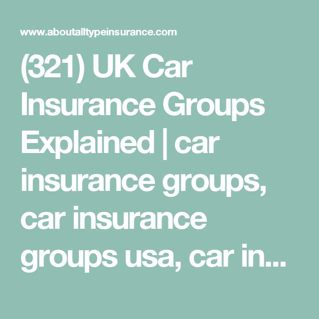 321 Uk Car Insurance Groups Explained Car Insurance Groups Car