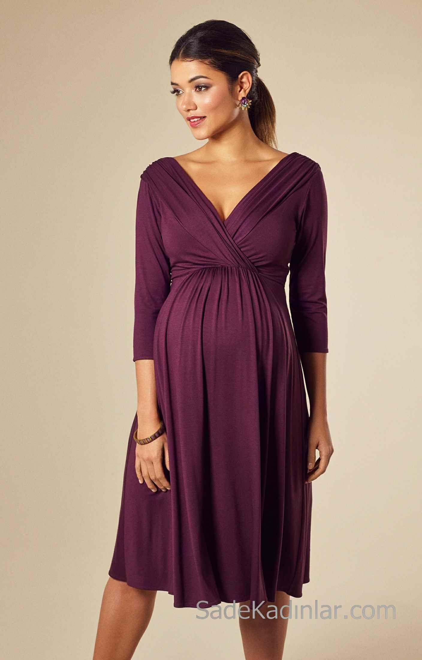 Manches longues FYMNSI Robe de grossesse /él/égante pour femme enceinte Pour un mariage Avec /épaules d/énud/ées En mousseline de soie Pour femme une s/éance photo de grossesse