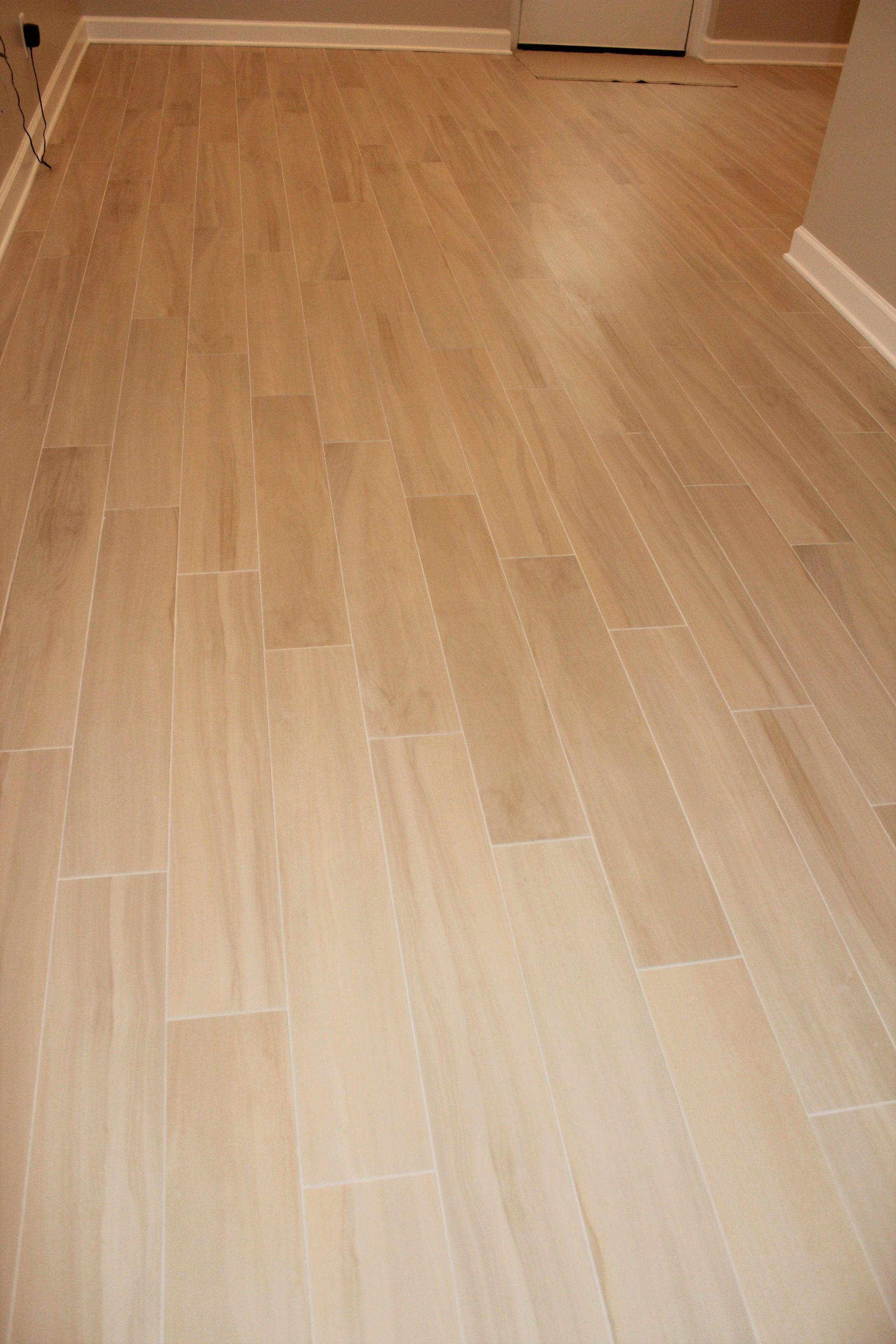 "Happy Floors Hickory 6"" x 36"" Honey wood look porcelain"