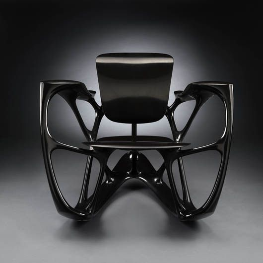 "Joris Laarman Bone Rocker Rocking Chair From the series ""Bone"""