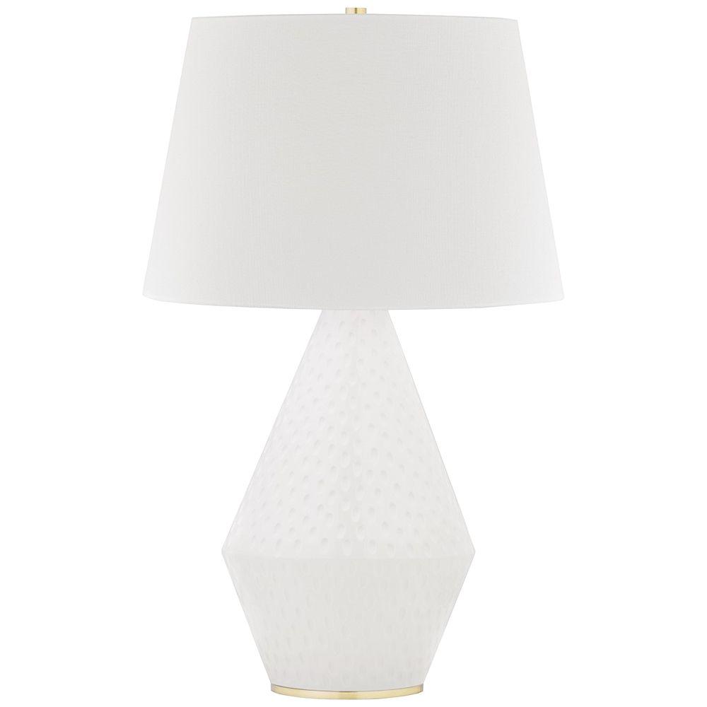 Hudson Valley Rickman White Ceramic Table Lamp Style 80t04 In 2020 Ceramic Table Lamps Table Lamp White Ceramics