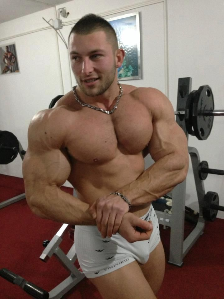 Muscular Studs Cumming At The Gym