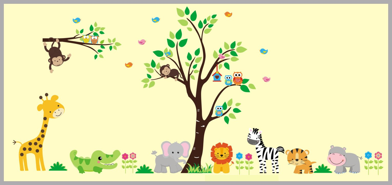 Animal Wall Prints - Wall Prints for Baby Nursery - Nursery Wall ...