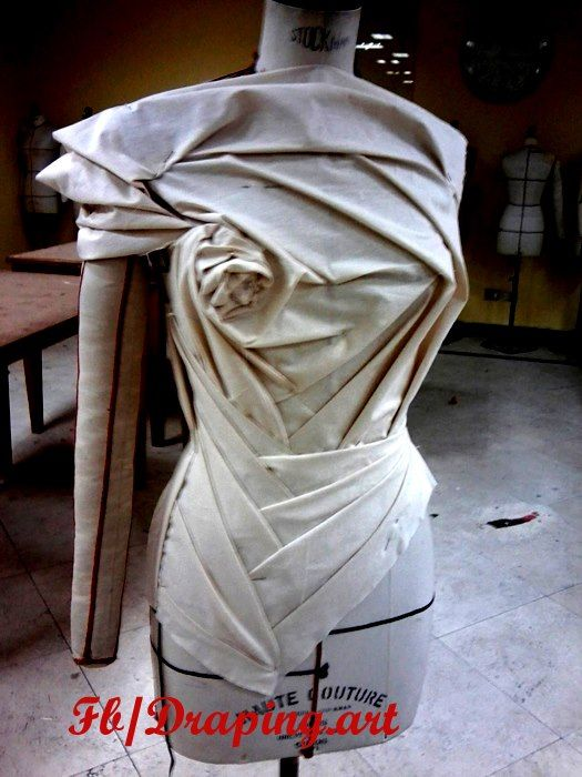 Interesting origami draping