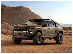 2016 Chevrolet Colorado Zh2 Concept Le Ne Fait Pas Dans La Dentelle Il Est Plus Haut 1 98 M Sous Toise Que De Base Et