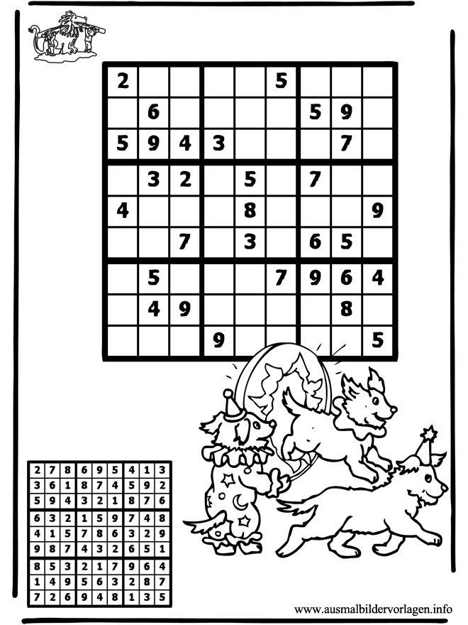 Zirkus Sudoku Kinder | SUDOKU | Pinterest