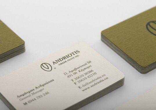 Lovely Stationery Andriotis Gp 1 Business Card Design Inspiration Stationery Branding Innovative Business Cards