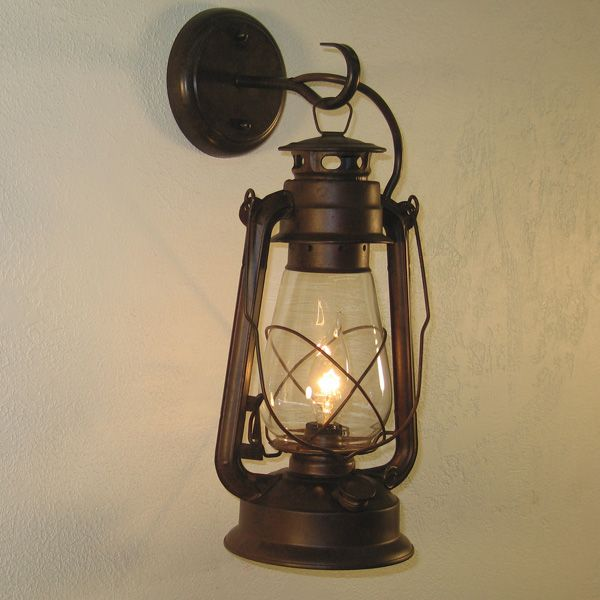Large Rustic Lantern Wall Sconce (price Is For 2 Sconces