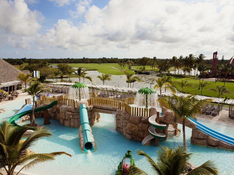 Parque Acuático Del Hotel Barceló Bávaro Palace Deluxe Barcelo Bavaro Palace Deluxe Affordable Vacations Dream Vacations