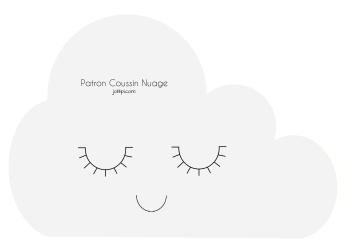 diy fabriquer un coussin nuage patron gratuit couture pinterest nursery. Black Bedroom Furniture Sets. Home Design Ideas