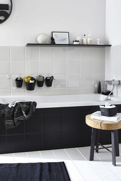 Deco pour femme actuelle celibataire   Salle de bains, Salle et Noir