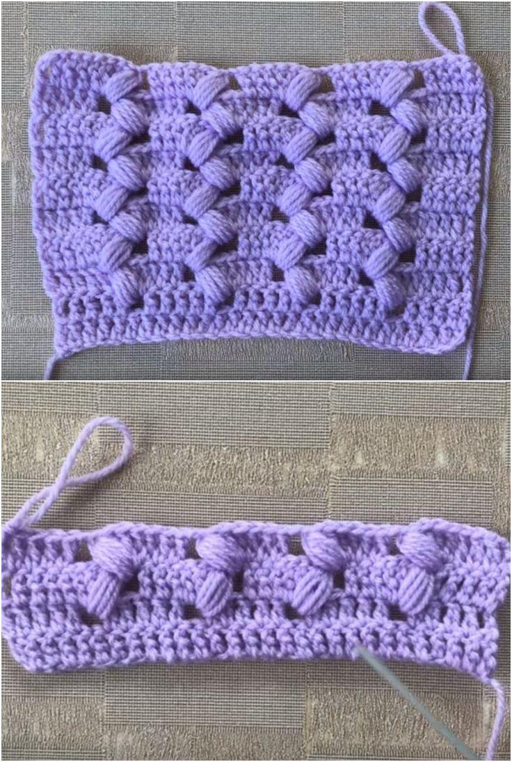 How To Crochet Puff Zigzag Stitch