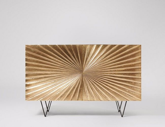 Swoon Editions Gold Cabinet