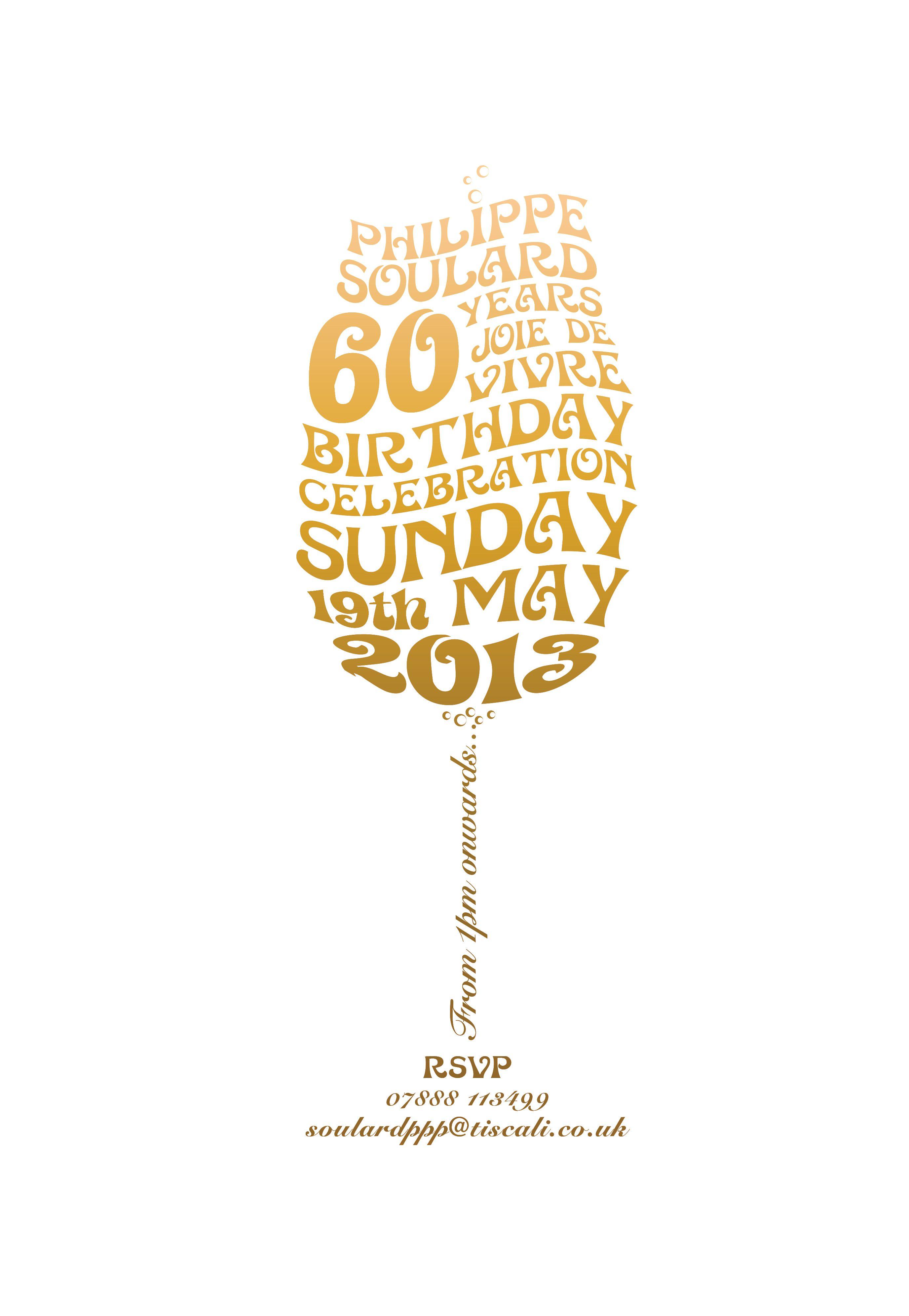 60th Birthday invite …