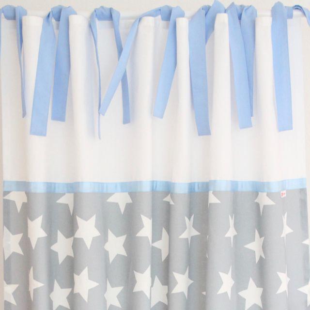 vorhang maxi sterne wei grau blau ca 140 x 250 cm vorh nge gardinen pinterest. Black Bedroom Furniture Sets. Home Design Ideas