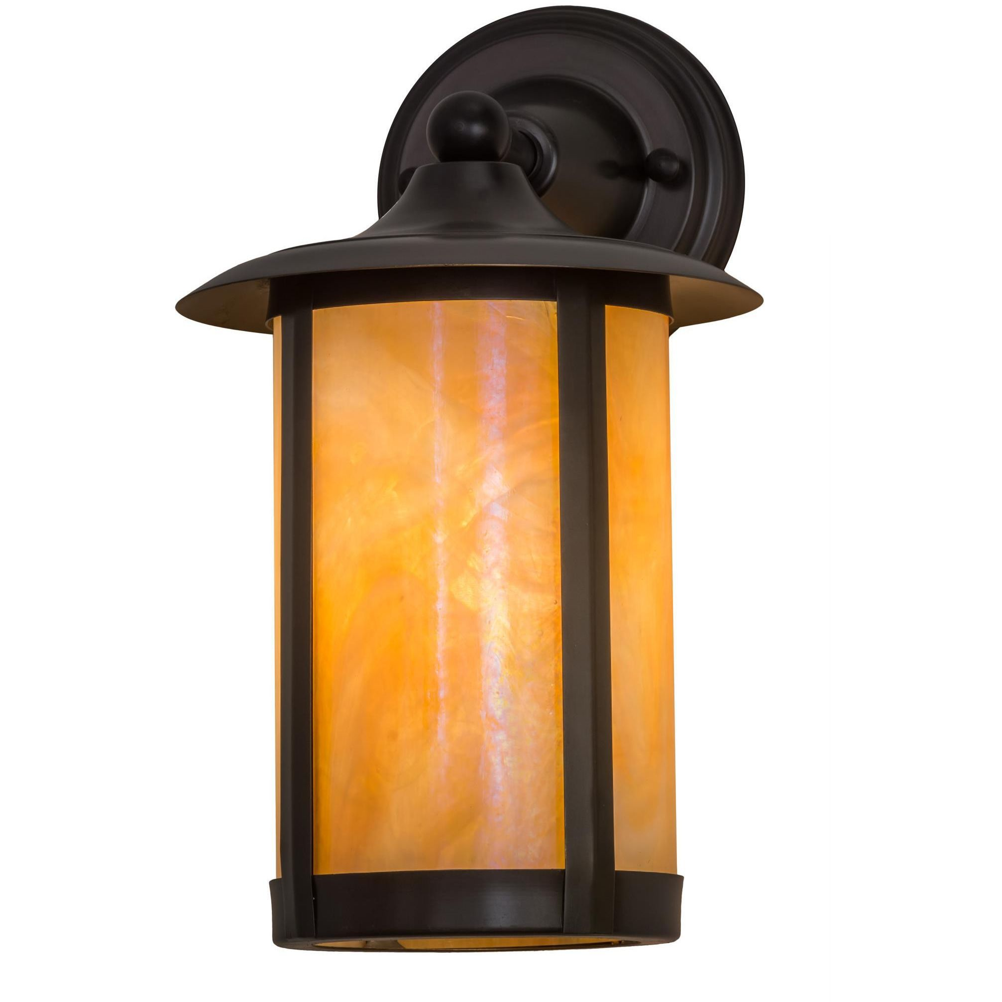 8 Inch W Fulton Prime Solid Mount Wall Sconce - Custom Made