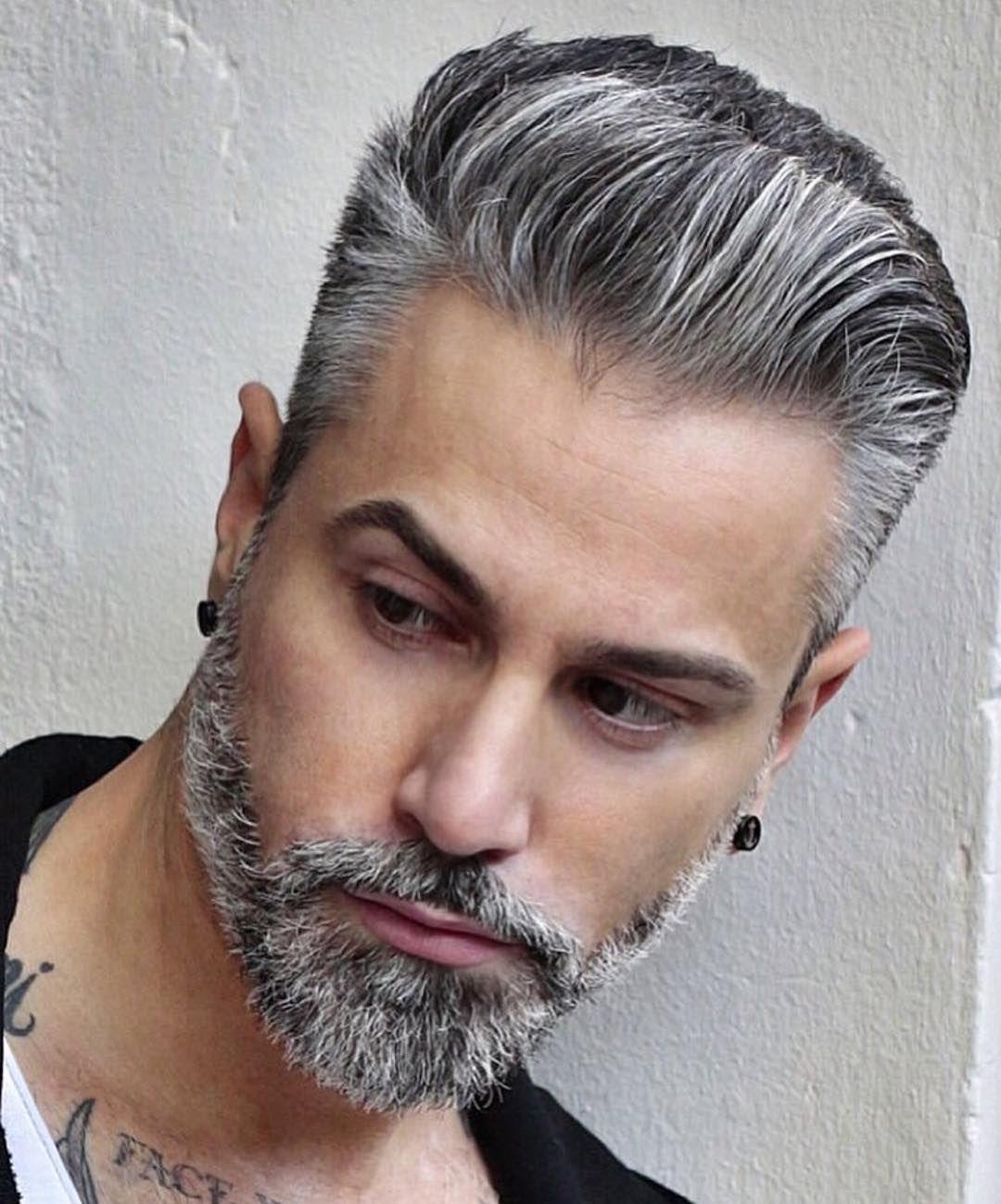 3 408 Me Gusta 11 Comentarios Hairmenstyle Official Hairmenstyle En Instagram Hairmenstyle Silver Hair Men Grey Hair Men Hairstyles For Thin Hair