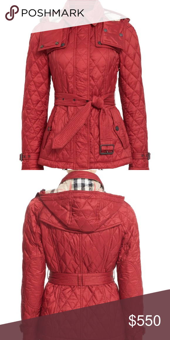 Burberry Finsbridge Short Quilted Jacket Xs Burberry Finsbridge Short Quilted Jacket In Dark Crimson This Was Bought Last Year I Wor Quilted Jacket Burberry Burberry Jacket