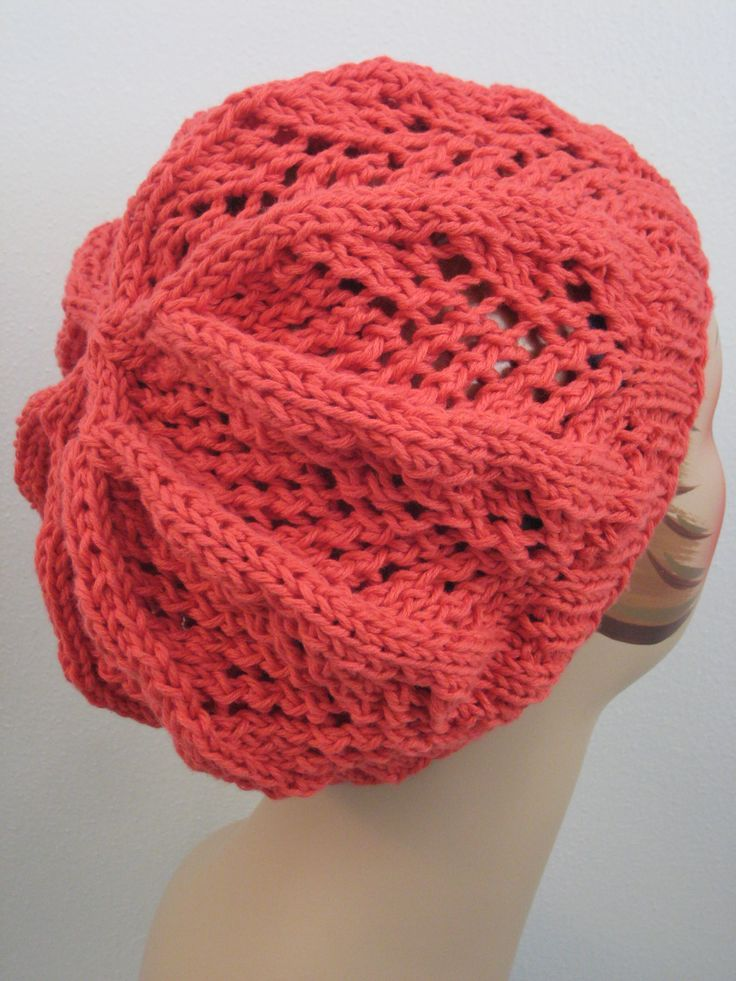 Free Knitting Pattern Hats Fan Lace Hat Lace Knitting Patterns
