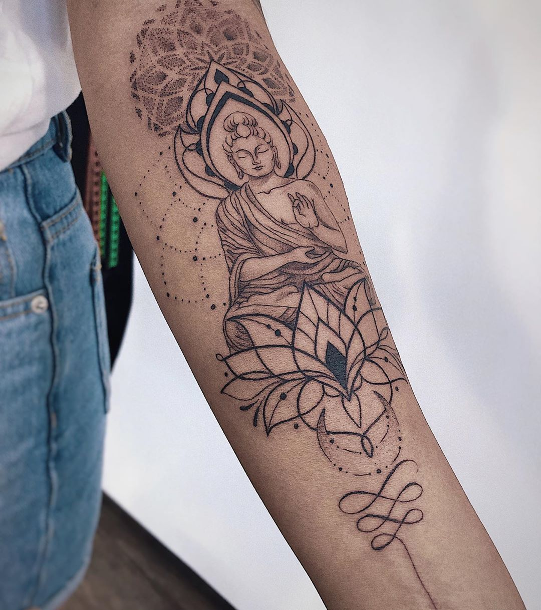 """•AngelikaFerrous•Tattoo artist on Instagram: """"I was creating this tattoo-design for a nice lady Sandra. She got acquainted with my tattoo-art in Bali but we lost each other. And she…"""""""