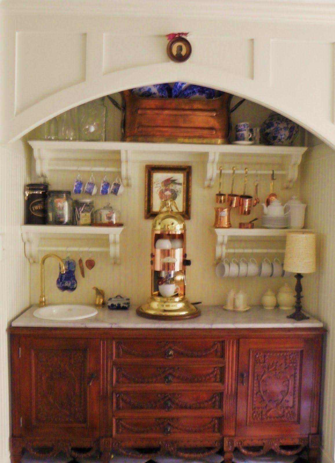 Beautiful Buffet Re Purposed As An In Home Espresso Bar