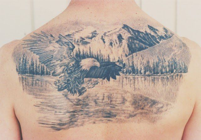 170510b5502e2 eagle mountains and lake tattoo | Things I love | Tattoos, Wildlife ...