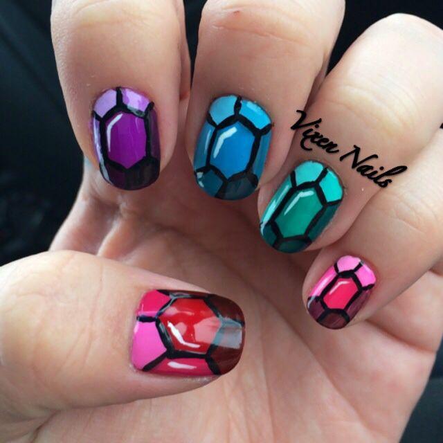 Gemstone Nail Art Nails Pinterest Nail Nail And Makeup