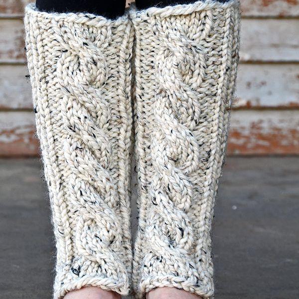 INVENTIVENESS Leg Warmer Knitting Pattern | crochet and stitch