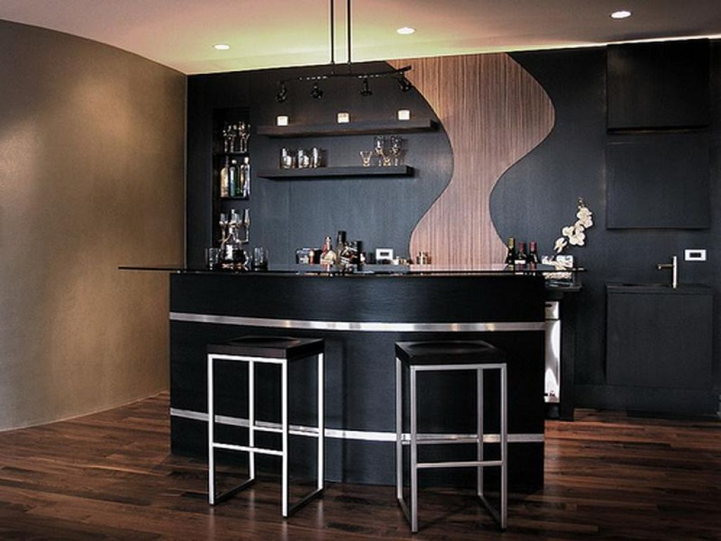 Interior , Small But Chic Bar Counter Designs for Homes with ...