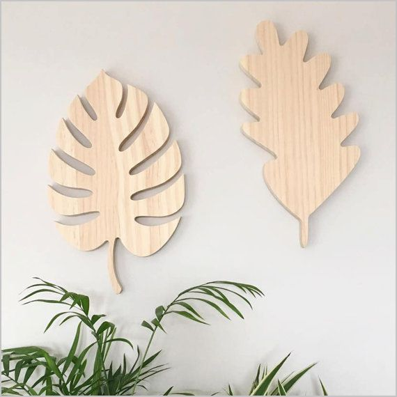 Wooden Leaf Monstera Leaf Tropical Decor Leaf Timber Wall Art