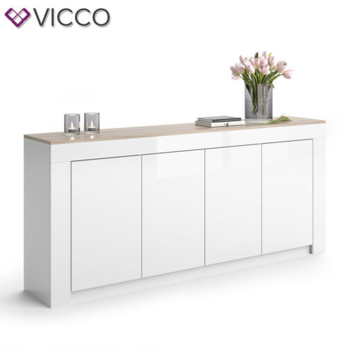 Vicco Sideboard Roma Kommode Schrank Sonoma Eiche Weiss