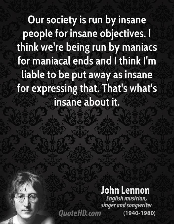 John Lennon Society Quotes Hemingway Quotes John Lennon Quotes Ernest Hemingway Quotes