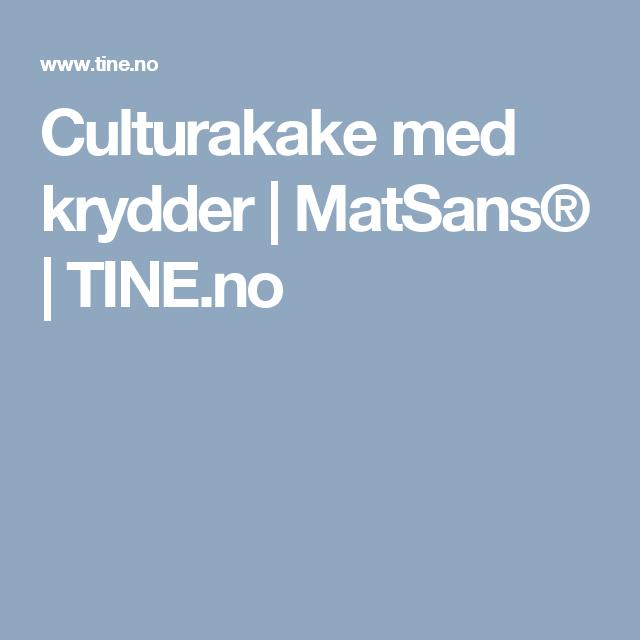 Culturakake med krydder | MatSans® | TINE.no