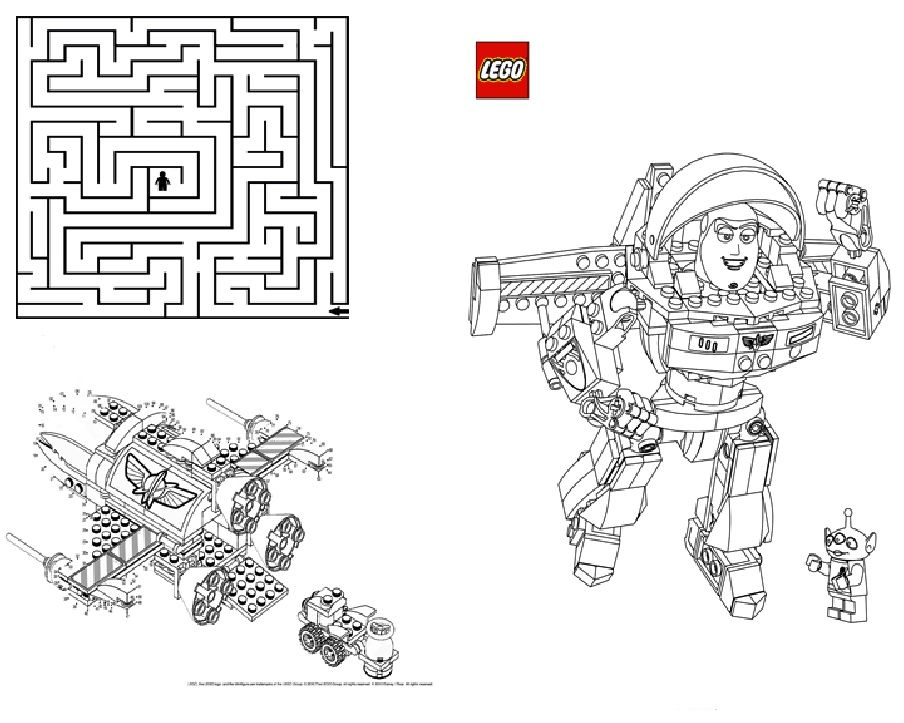 Activity Book PDF Pages1 4 lego coloring pages and dot to ...