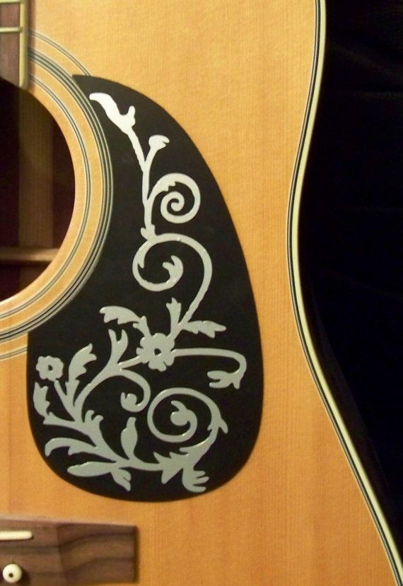 Guitar Pick Guard Decal Vine Of Life Decal Sticker By