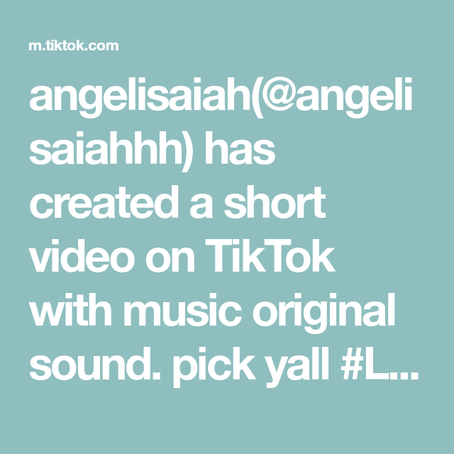 Angelisaiah Angelisaiahhh Has Created A Short Video On Tiktok With Music Original Sound Pick Yall Lace Creative Instagram Stories Instagram Story Instagram