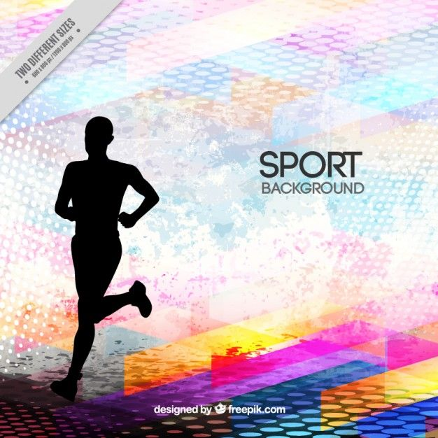 Runner Silhouette On A Abstract Background Abstract Backgrounds Abstract Sports Pictures