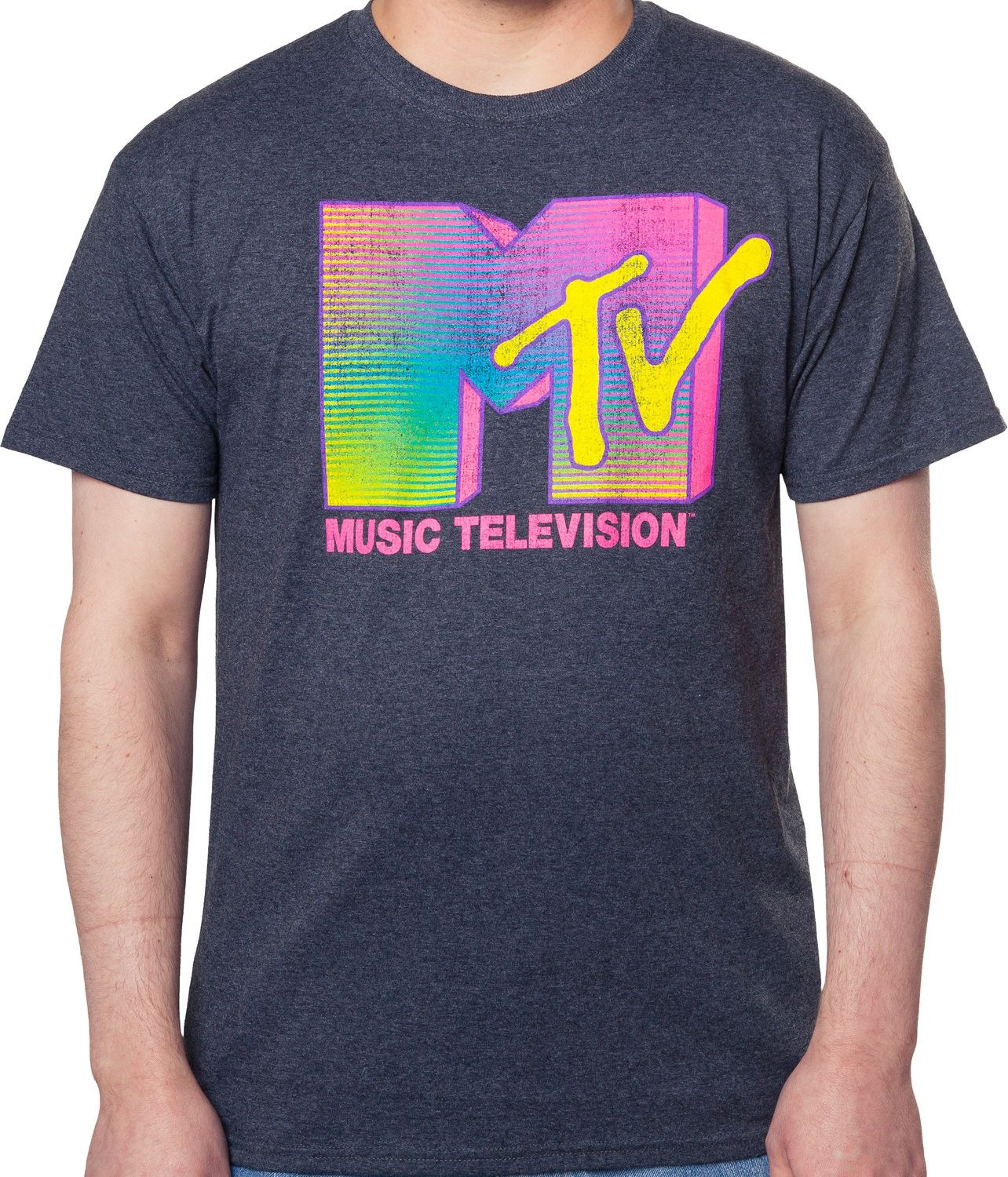 91a02c63bb17 Neon MTV Logo Shirt | New Mens T-Shirts From 80sTees.com in 2019 ...