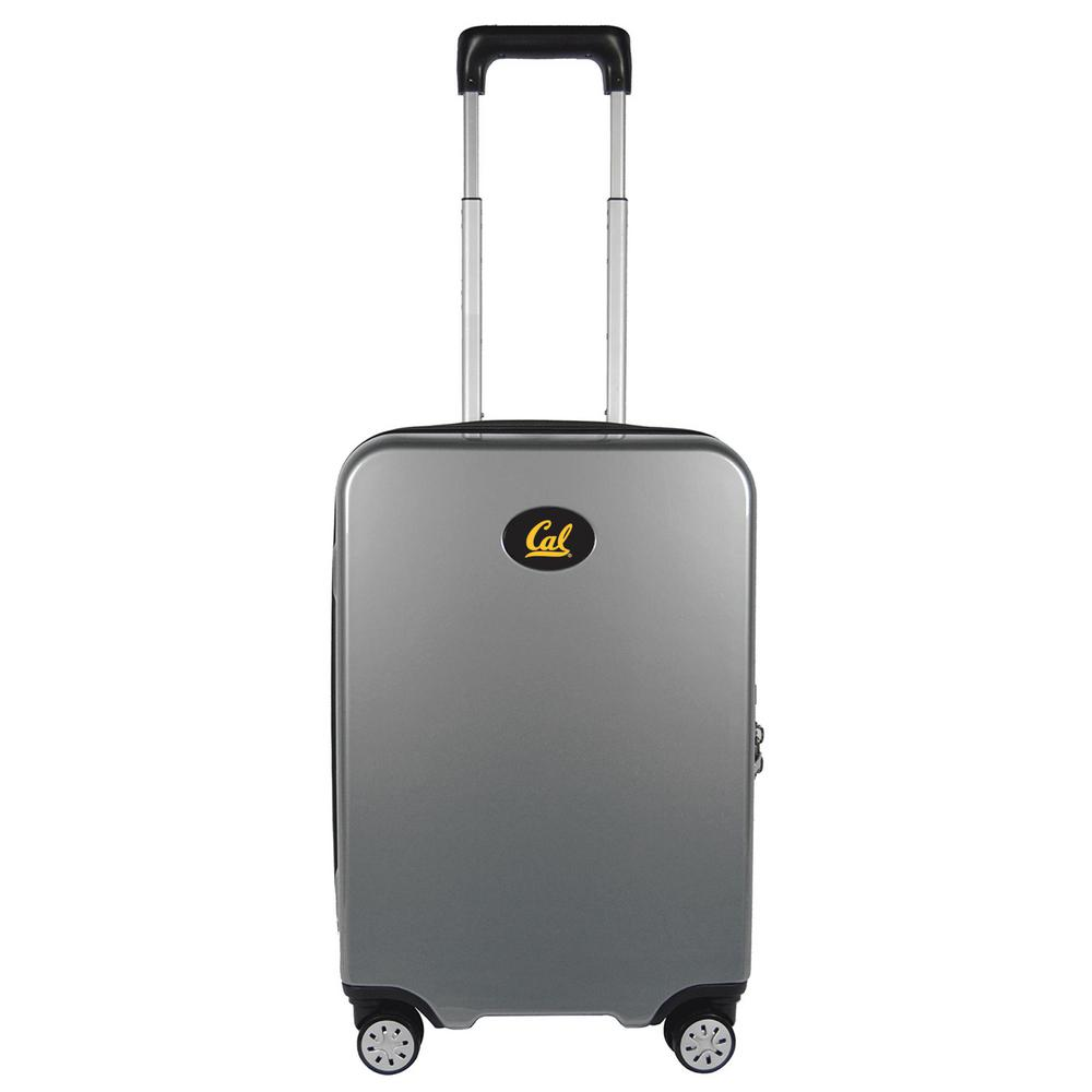 Ncaa Berkeley Premium 22 in. Silver 100% PC Hardside Carry-On Spinner Suitcase with Charging Port