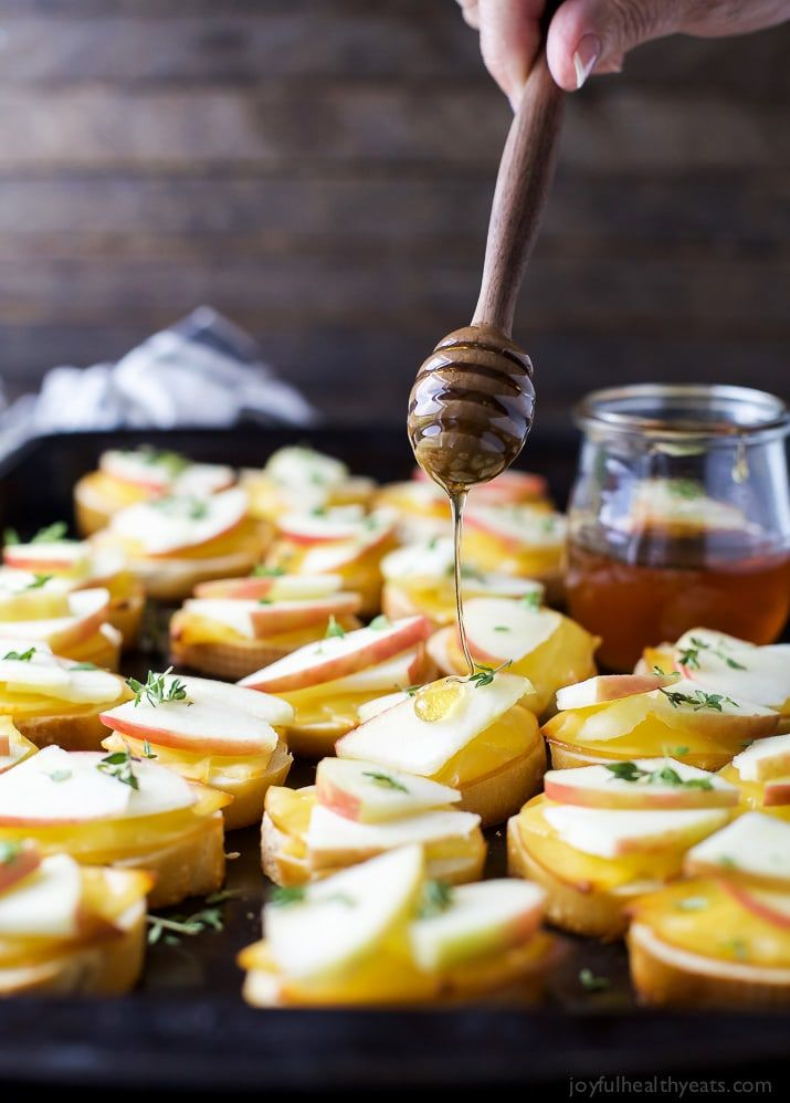 Smoked Gouda  Apple Crostini with Honey Drizzle Recipe Recipes