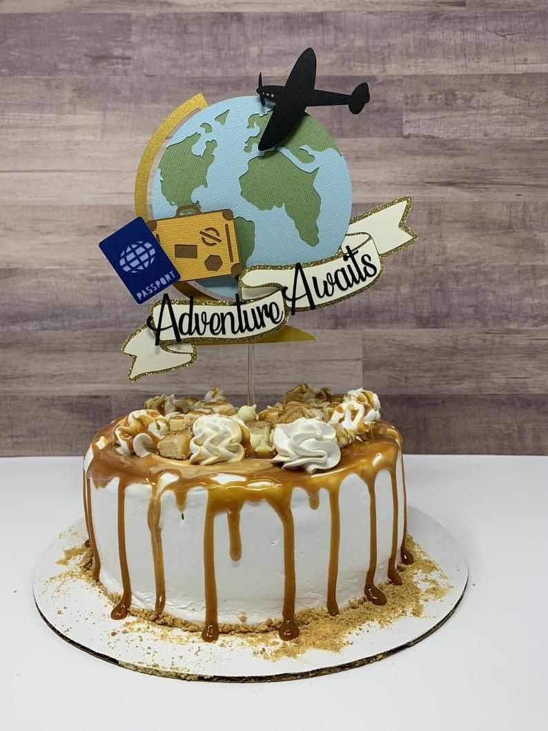 Globe Cake Topper Travel Cake Topper Custom Globe Topper